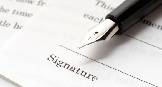 e-signing